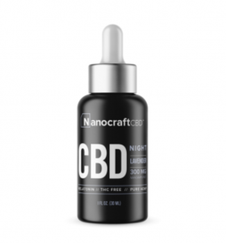 cbd nanocraft oil lavender bottle